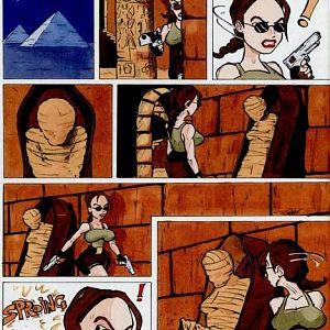Lara Croft meets the Mumy